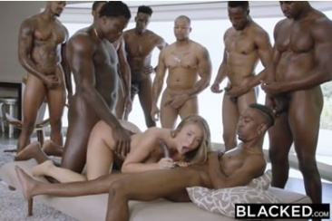 Lena Paul - interracial, fekete gangbang